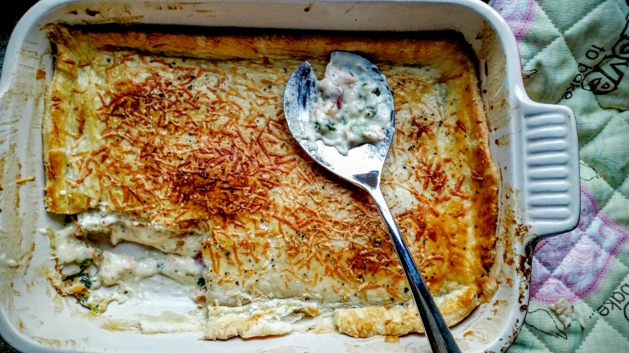 Easy-peasy fish pie with bacon